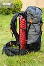 Рюкзак туристический 3F UL GEAR 40 + 16 Литра. Ультралегкий для трекинга серый., фото 2