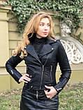 Черная брендовая куртка Philipp Plein из кожи, фото 3