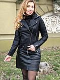 Черная брендовая куртка Philipp Plein из кожи, фото 4