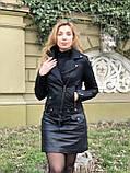 Черная брендовая куртка Philipp Plein из кожи, фото 5