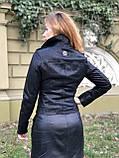 Черная брендовая куртка Philipp Plein из кожи, фото 6