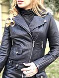 Черная брендовая куртка Philipp Plein из кожи, фото 9