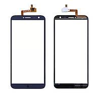 Touchscreen (сенсор) для S-Tell M655 Синій