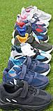 Детские кроссовки сетка Adidas Yeezy Boost Blue синие черный , копия, фото 2
