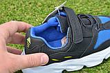 Детские кроссовки сетка Adidas Yeezy Boost Blue синие черный , копия, фото 4