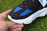 Детские кроссовки сетка Adidas Yeezy Boost Blue синие черный , копия, фото 5
