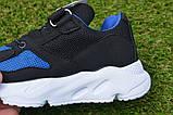 Детские кроссовки сетка Adidas Yeezy Boost Blue синие черный , копия, фото 7