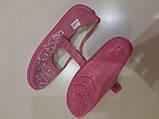 Тапочки детские для девочки розовые р.34 ТМ Waldi, фото 3