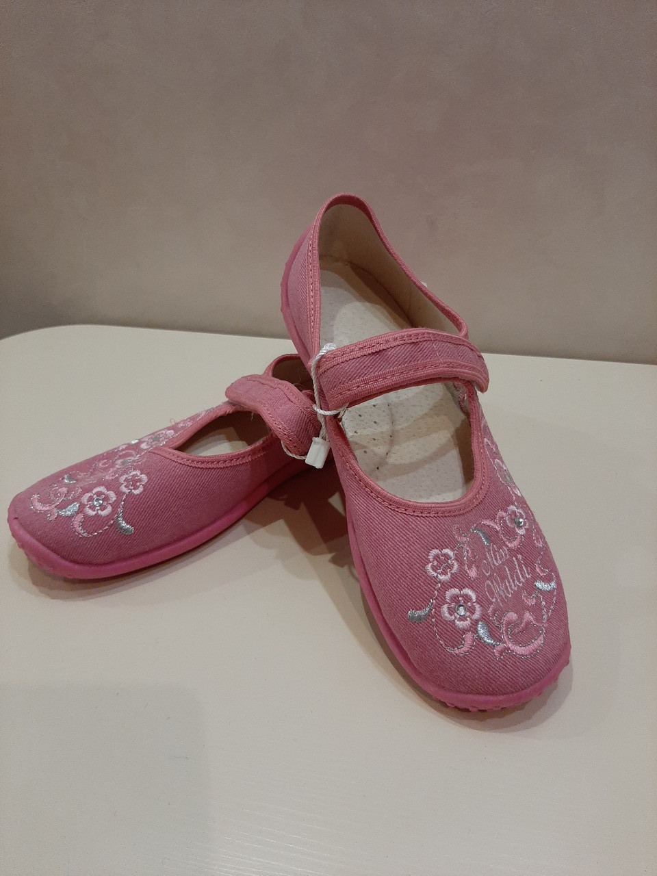 Тапочки детские для девочки розовые р.34 ТМ Waldi