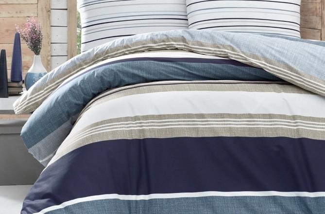 Постельное белье 2-спальное евро LIGHTHOUSE Savoy синий