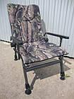 Кресло карповое M-Elektrostatyk F5R Camou с широкими подлокотниками, фото 6