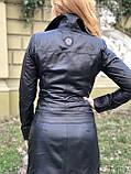 Черная брендовая куртка Philipp Plein из натуральной кожи, фото 7