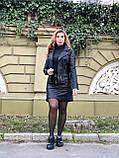 Черная брендовая куртка Philipp Plein из натуральной кожи, фото 8