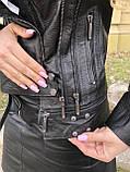 Черная брендовая куртка Philipp Plein из натуральной кожи, фото 10