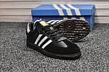 Кросівки Adidas Samba Black White / Адідас Самба, фото 4