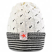 Теплая вязаная шапка для мальчика