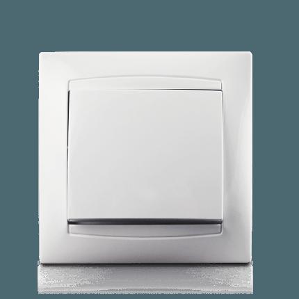 Кнопка дзвінка в зборі Erste electric Prestige біла (9206-00W), фото 2
