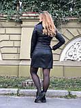 Черная стильная куртка из гладкой кожи, фото 10