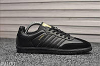 Кроссовки Adidas Samba Black / Адидас Самба, фото 1