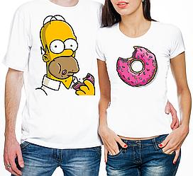 """Парные футболки """"Гомер и пончик"""" (частичная, или полная предоплата)"""