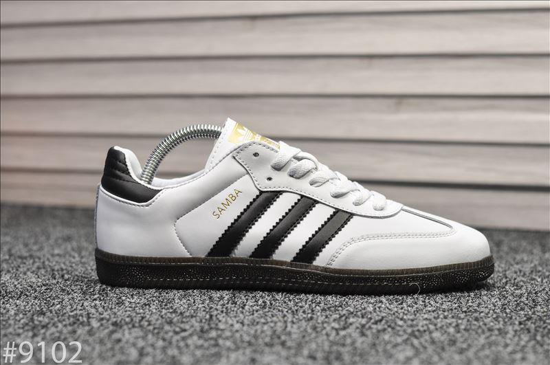 Кроссовки Adidas Samba White Black / Адидас Самба