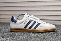 Кроссовки Adidas Samba White Blue / Адидас Самба, фото 1
