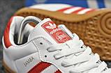 Кроссовки Adidas Samba White Red / Адидас Самба, фото 2