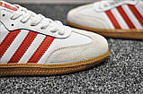 Кроссовки Adidas Samba White Red / Адидас Самба, фото 5