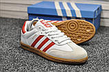 Кроссовки Adidas Samba White Red / Адидас Самба, фото 6