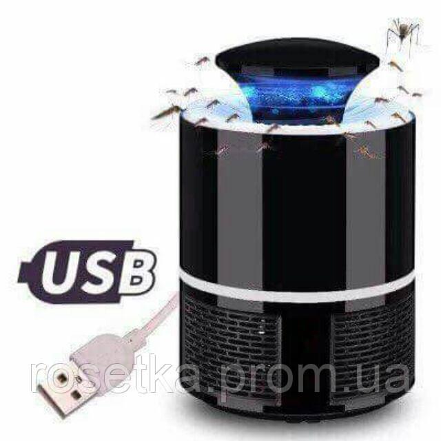 Лампа пастка для комах Mosquito Killer Lamp 5 Вт USB чорна, знищувач комарів