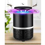 Лампа пастка для комах Mosquito Killer Lamp 5 Вт USB чорна, знищувач комарів, фото 4