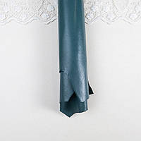 Натуральная КОЖА Шевро 1 мм Плотная А5 формат МОРСКАЯ ВОЛНА СВЕТЛАЯ