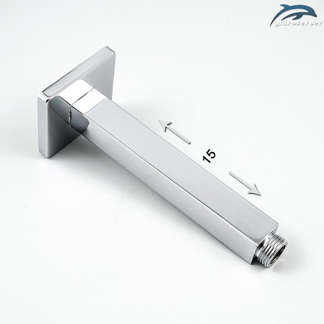 Кронштейн для верхнего душа DL-03.15 латунный, покрыт хромовым напылением.