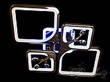 Стельова люстра з діммером і LED підсвічуванням, колір чорний хром 8157/2+2BHR LED 3color dimmer, фото 3