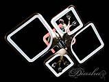 Стельова люстра з діммером і LED підсвічуванням, колір чорний хром 8157/2+2BHR LED 3color dimmer, фото 5