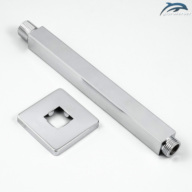 Кронштейн для верхней душевой лейки DL-03.15 вертикальный с длиной 20 см.