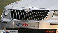 Накладки на переднюю решетку Skoda Octavia A5 (2010+)