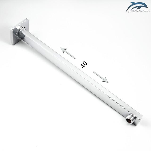 Кронштейн для лейки верхнего душа DL-02.40 латунный с длиной 40 см.