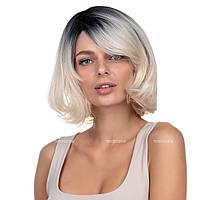 Парик каре из термоволокна 180 Sabrina AT цвет омбре переход из черного в блондин
