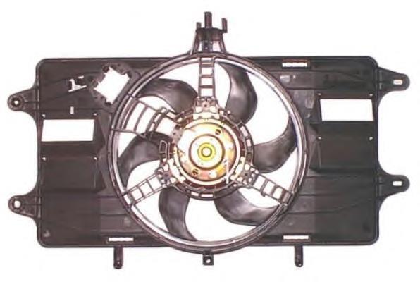 Дифузор з одним вентилятором 1.3 MJTD-1.9 JTD Doblo 2000-2005, Арт. 051738799, 51738799S, 51755589S, VEKA