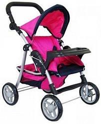 Детская прогулочная коляска для кукол Melogo, с регулируемой ручкой, розовая