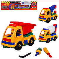 Конструктор детский 846-56-66  стройтехника, 3 вида, инструменты  31-20-12см