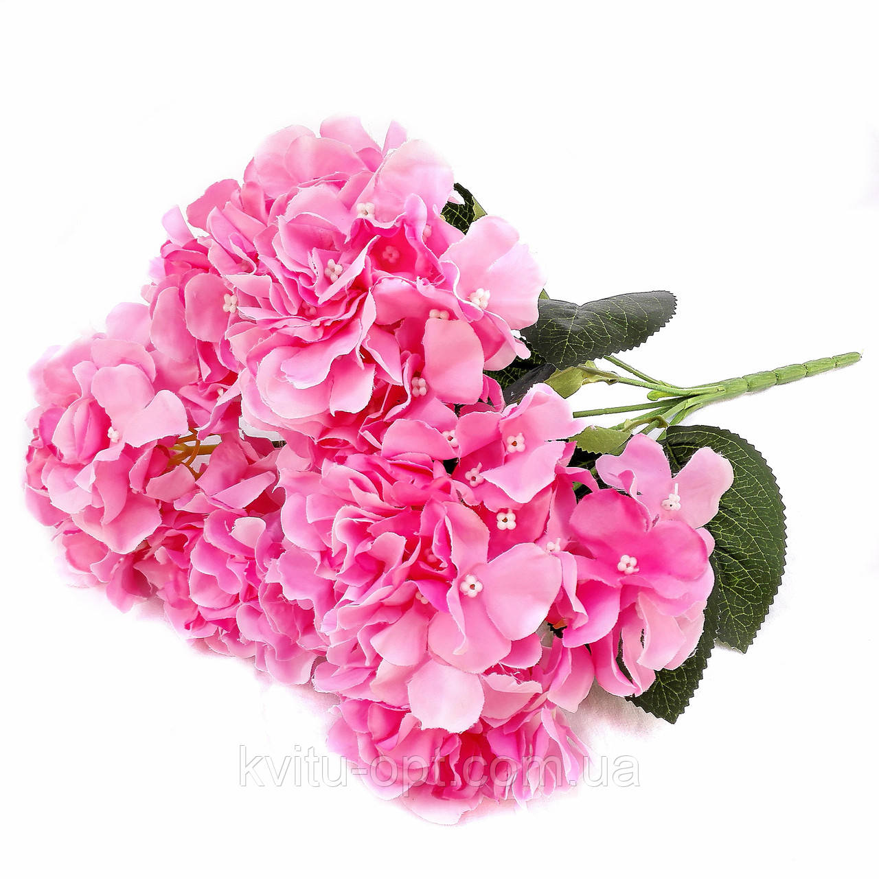 Букет гортензии 6 голов. Розовый. 40 см
