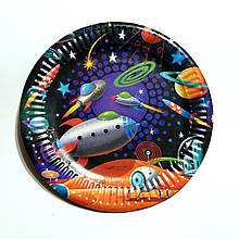 Тарелки бумажные детские космос