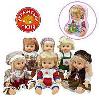 JT Кукла ОКСАНОЧКА 5139-5140-5055-5056 (36шт) 6 видов, укр, в рюкзаке, 25см