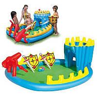 Игровой центр 52169 Осада замка, с душем, шариками и надувным оружием, 249-155-79см