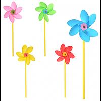 ВЕТРЯЧОК M 5744 диаметр 11,5 см, палочка 26 см, 5 цветов.