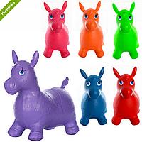 Прыгуны-лошадки MS 0737  ПВХ, 1250г, 6цветов, в кульке  37-30-5см