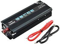 Преобразователь напряжения(инвертор) UKC 12-220V 1500W + USB Black #S/O, фото 1
