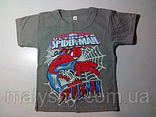 Футболка SPIDERMAN рост 110-116, размер 64 серая